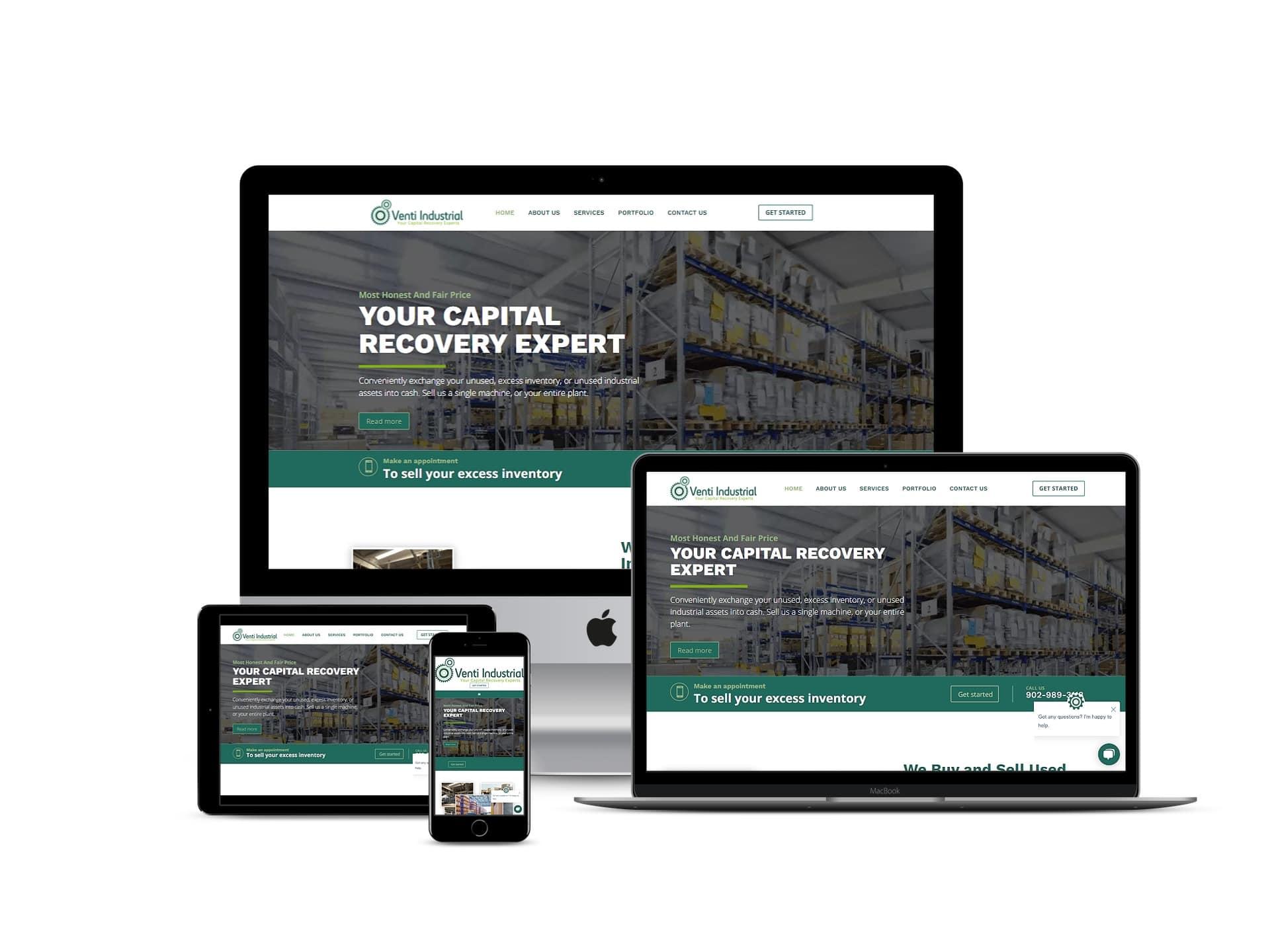 VentiIndustrial Web Design Project